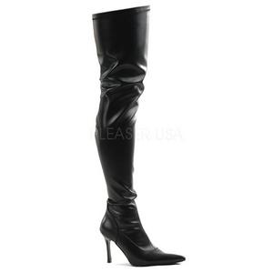 Noir Mat 9,5 cm LUST-3000 bottes overknee femme