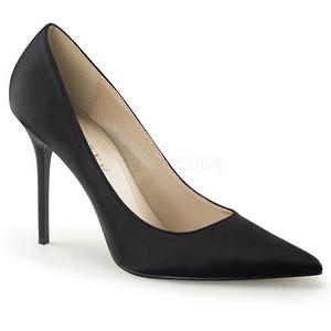 Noir Satin 10 cm CLASSIQUE-20 escarpins à talon aiguille bout pointu