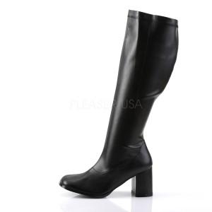 Noir Similicuir 7,5 cm GOGO-300WC bottes femme mollets et jambes larges