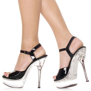 Noir Transparent 14 cm ALLURE-609 Chaussures Stilettos