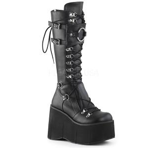Noir Vegan 11,5 cm Demonia KERA-200 bottes plateforme gothique