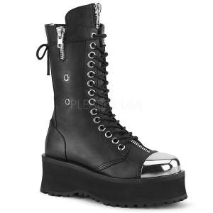 Noir Vegan 7 cm GRAVEDIGGER-14 bottes demonia - bottes plateforme unisex