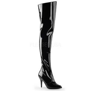Noir Verni 10,5 cm VANITY-3010 bottes cuissardes hommes