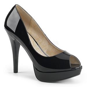 Noir Verni 13,5 cm CHLOE-01 grande taille escarpins femmes