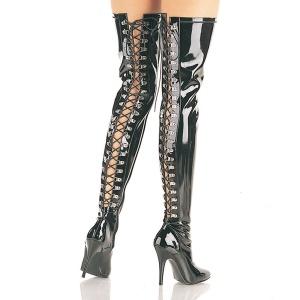 Noir Verni 13 cm SEDUCE-3063 bottes overknee femme