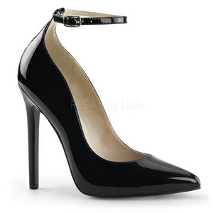 Noir Verni 13 cm SEXY-23 Chaussures Escarpins Classiques