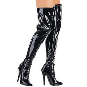Noir Verni 15 cm DOMINA-3000 bottes cuissardes hommes