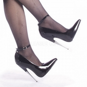 Noir Verni 15 cm SCREAM-12 Chaussures Stilettos Escarpins Femmes