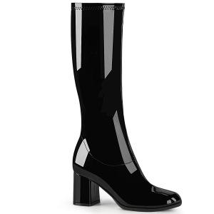 Noir Verni 7,5 cm GOGO-300-2 bottes à talon carré
