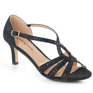 Noir etincelle 6,5 cm Fabulicious MISSY-03 sandales à talons aiguilles