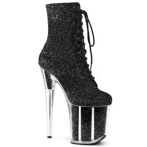 Noir paillettes 20 cm FLAMINGO-1020G bottines de pole dance