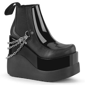 Noir vegan boots 13 cm VOID-50 demonia bottes talon compensé