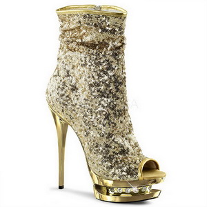 Or Paillettes 15,5 cm BLONDIE-R-1008 Plateforme Bottines Femmes