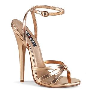 Or Rose 15 cm Devious DOMINA-108 sandales à talons aiguilles