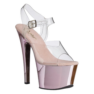 Pink Transparent 18 cm SKY-308 Plateforme Haut Talon