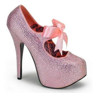 Rose Strass 14,5 cm Burlesque TEEZE-04R Talons Aiguilles Escarpins