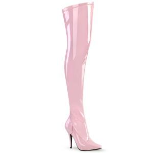Rose Verni 13 cm SEDUCE-3000 bottes overknee femme