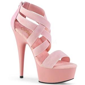 Rose bande élastique 15 cm DELIGHT-669 chaussures pleaser à talon femme