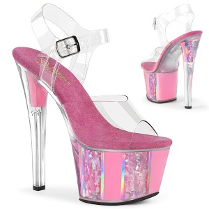 Rose transparent 18 cm SKY-308OF chaussures de striptease