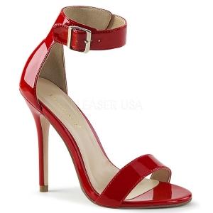 Rouge 13 cm Pleaser AMUSE-10 sandales à talons aiguilles