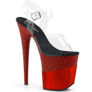 Rouge 20 cm FLAMINGO-808-2HGM etincelle sandales avec plateforme