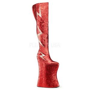 Rouge Etinceler 34 cm VIVACIOUS-3016 Bottes pour Drag Queen