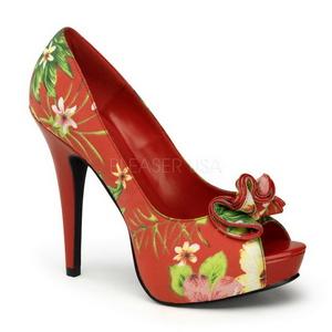 Rouge Fleurs 13 cm LOLITA-11 Chaussures pour femmes a talon