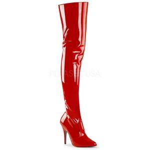Rouge Verni 13 cm SEDUCE-3010 Cuissardes Bottes Longues