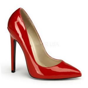 Rouge Verni 13 cm SEXY-20 escarpins à talon aiguille bout pointu