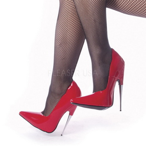 Rouge Verni 15 cm SCREAM-01 Fetish Talons Aiguilles Escarpins