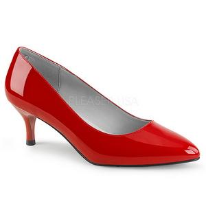 Rouge Verni 6,5 cm KITTEN-01 grande taille escarpins femmes