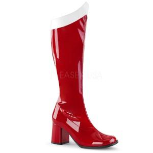 Rouge Verni 7,5 cm Funtasma GOGO-306 Bottes Femmes