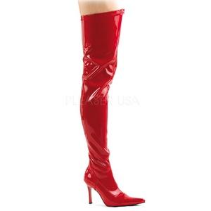 Rouge Verni 9,5 cm LUST-3000 bottes overknee femme