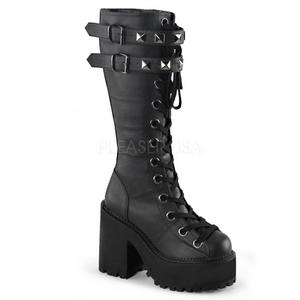 Similicuir 12 cm ASSAULT-202 bottes lolita gothique semelles épaisses