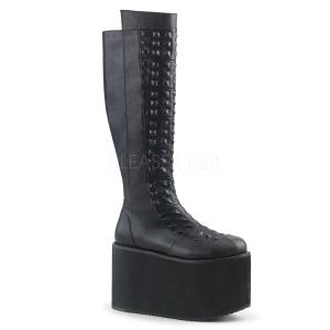 Similicuir 12 cm ROT-13 plateformes bottes à boucles pour femmes