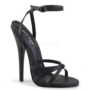 Similicuir 15 cm Devious DOMINA-108 sandales à talons aiguilles