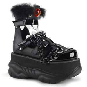 Similicuir Noir 7,5 cm NEPTUNE-150 Chaussures Gothiques Hommes Plateforme