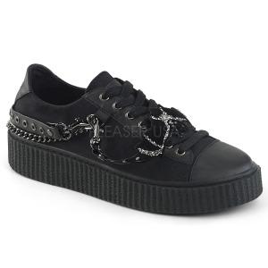 Toile 4 cm SNEEKER-112 Chaussures sneakers creepers hommes