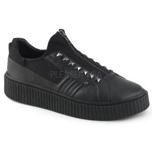 Toile 4 cm SNEEKER-125 Chaussures sneakers creepers hommes