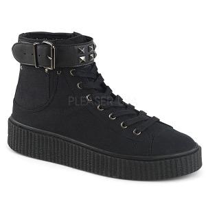 Toile 4 cm SNEEKER-255 Chaussures sneakers creepers hommes