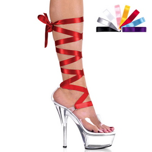 Transparent 15 cm Pleaser KISS-295 Talons Hauts Plateforme