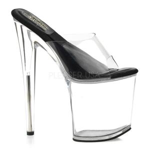 Transparent 20 cm SOL-801-O Plateforme Mules Chaussures