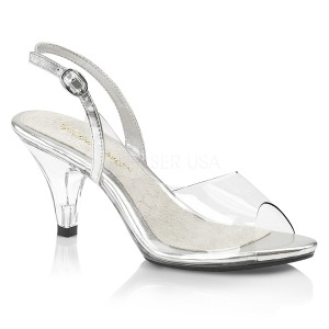 Transparent 8 cm BELLE-350 chaussures travesti