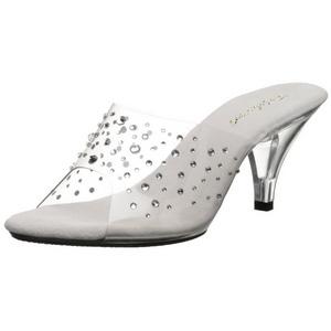 Transparent Strass 8 cm BELLE-301RS Chaussures Mules pour Hommes
