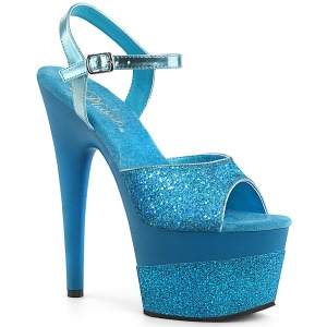 Turquoise 18 cm ADORE-709-2G etincelle sandales avec plateforme