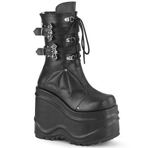 Vegan 15 cm WAVE-150 demonia bottes talon compensé