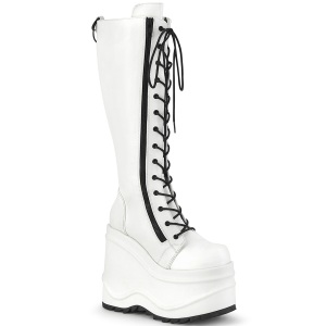 Vegan 15 cm WAVE-200-2 demonia bottes talon compensé