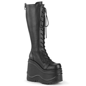 Vegan 15 cm WAVE-200 demonia bottes talon compensé