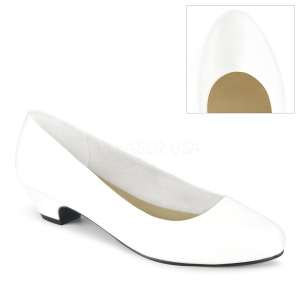 Vegan 3 cm GWEN-01 escarpins pour homme et drag queens en blanc