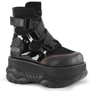 Vegan 7,5 cm NEPTUNE-126 bottines demonia - bottines de cyberpunk unisex